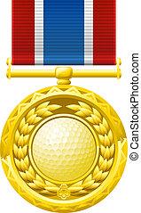 golf, érem