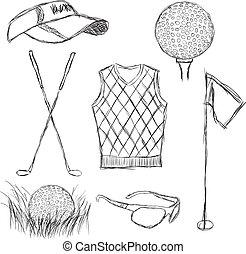 golf, gyűjtés