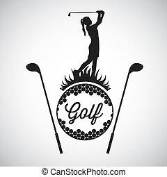golf, ikonok
