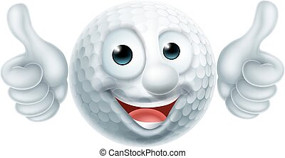 golf labda, betű, karikatúra