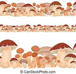 gombák, határ, seamless