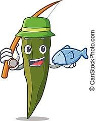 gombó, mód, halászat, karikatúra, kabala