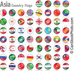 gombok, nemzeti, állhatatos, lobogó, ázsiai