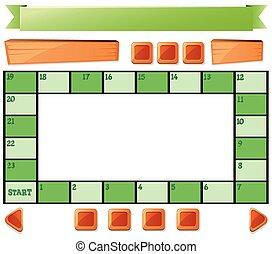 gombok, sablon, boardgame