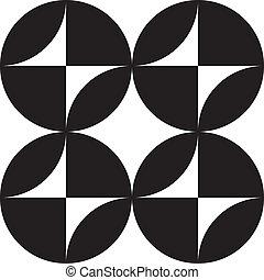gombok, sorozat, elvont, asimetrical, 4