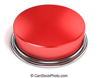 gombol, elszigetelt, piros