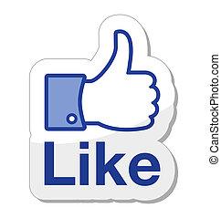 gombol, facebook, azt, szeret