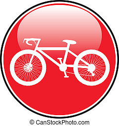 gombol, ikon, bicikli, kerek, internet