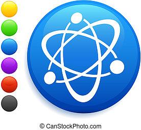 gombol, ikon, kerek, atom, internet
