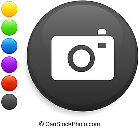 gombol, ikon, kerek, fényképezőgép, internet