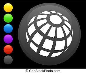 gombol, ikon, kerek, földgolyó, internet