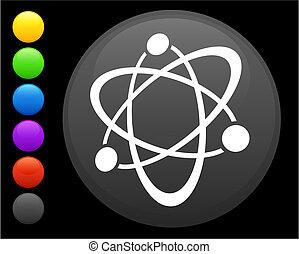 gombol, internet, kerek, ikon, atom