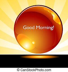 gombol, jó, napkelte, háttér, reggel