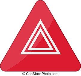 gombol, lehetőség láng, vektor, autó., ábra, cikázik, figyelmeztetés