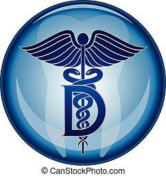 gombol, orvosi jelkép, fogász