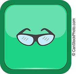 gombol, szemüveg, zöld, kúszónövény
