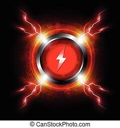 gombol, szikra, energia, elektromos