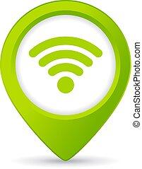 gombol, wifi, szabad, gombostű