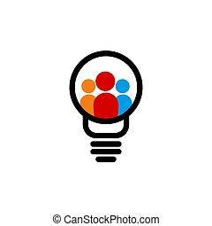 gondolat, sablon, tervezés, ábra, közösség, vektor