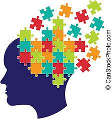 gondolkodás, brain., fogalom, megfejt