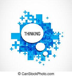 gondolkodó, pozitív, felhő
