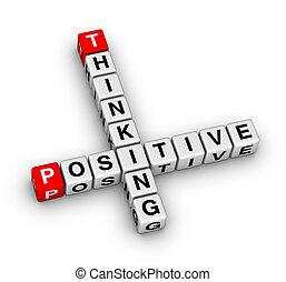 gondolkodó, pozitív