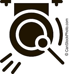 gong, vektor, ábra, ikon, glyph