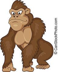 gorilla, karikatúra