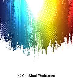 gradiens, festék, loccsan, háttér