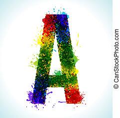 gradiens, vektor, loccsan, betűtípus
