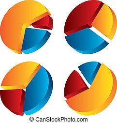 grafikus, állhatatos, diagram