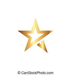 grafikus, csillag, vektor, tervezés, sablon, jel