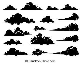 grafikus, design., vektor, felhő