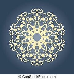 grafikus, gradiens, motívum, szőnyeg, mandala, fractal, kör alakú