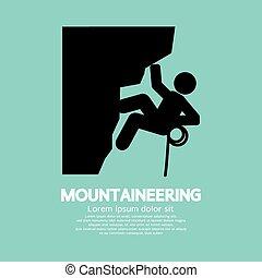 grafikus, jelkép., hegymászás