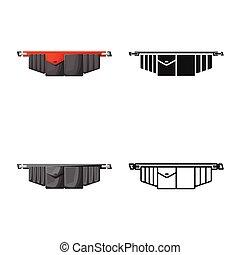 grafikus, jelkép., toolbag, elszigetelt, szerszám derékszíj, stock., vektor, ikon, cél