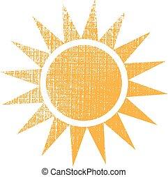 grafikus, nap, struktúra, vektor, tervezés, logo.