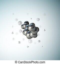grafikus, tudományos, orvosi, molekula, ábra, vektor, tervezés, cell., szerkezet, elvont