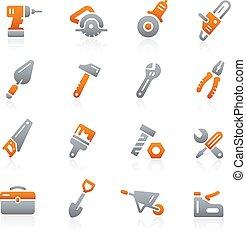 grafit, --, ikonok, eszközök, sorozat