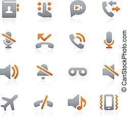grafit, mozgatható, ikonok, háló, 1