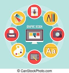 graphic tervezés, ikonok