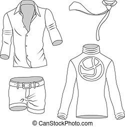 greyscale, ember, gyűjtés, öltözék