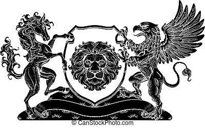 griffmadár, címer, család, ló, fegyver, pajzs, bőr