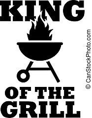 grill, ikon, király