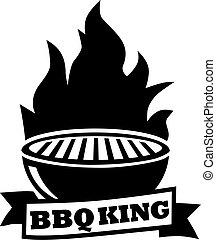 grill, király, kerti-parti, grillsütő