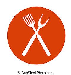 grill, tools., kerti-parti, ábra