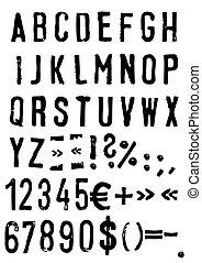 grunge, abc, vektor, -