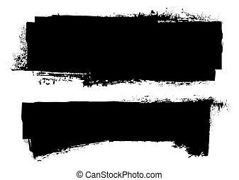 grunge, fekete, transzparens, tinta