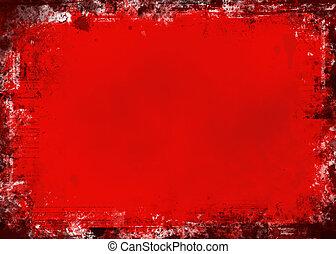 grunge, piros