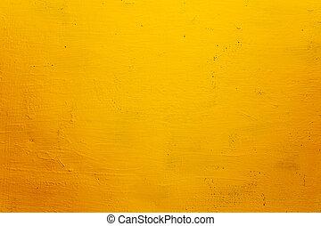 grunge, struktúra, háttér, fal, sárga